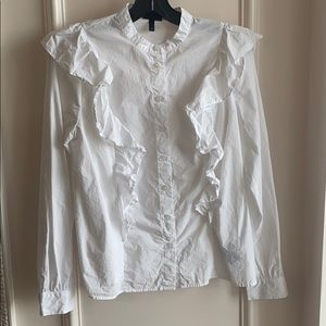 Who What Wear x Target white blouse
